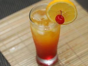 receta de pisco sunrise